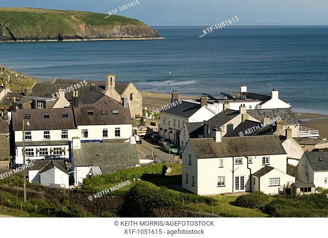 Aberdaron village on the coast of the Lleyn Peninsula, Gwynedd north Wales, UK