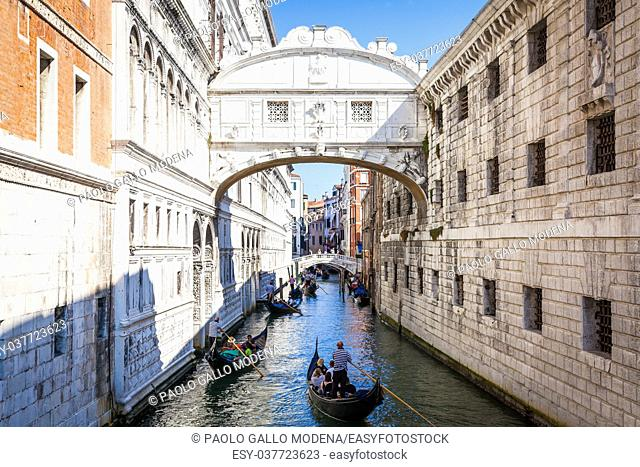Venice's famous Bridge of Sighs was designed by Antonio Contino and was built at the beginning of the seventeenth century