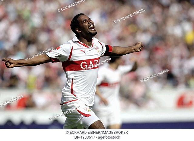 Jeronimo Cacau, VfB Stuttgart football club, cheers