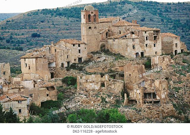 Abandoned village. Spain