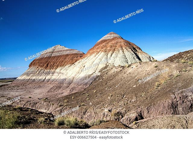 Color mountains of the Painted Desert