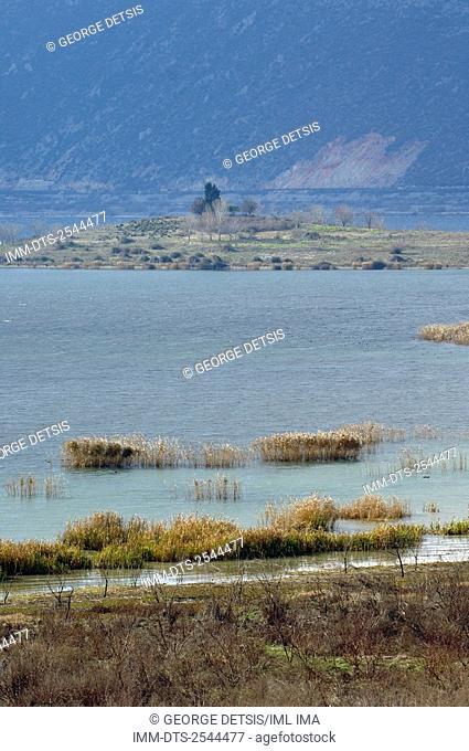 Vergoritis lake near Arnissa. Pella, Central Macedonia, Greece, Europe