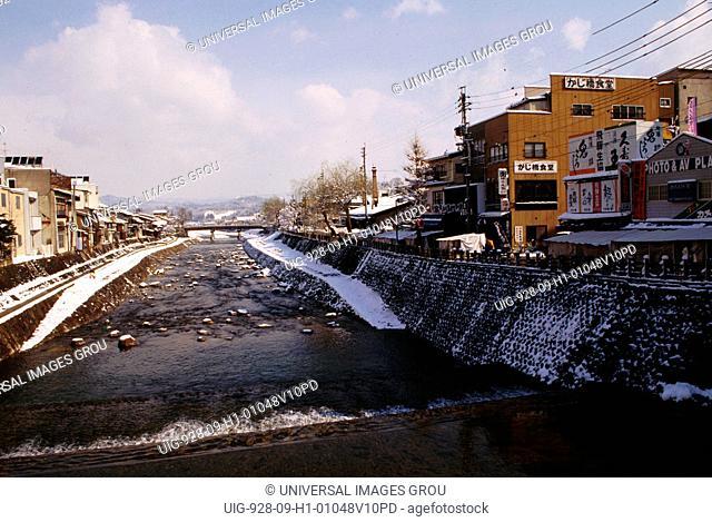 Japan, Takayama. River In Winter