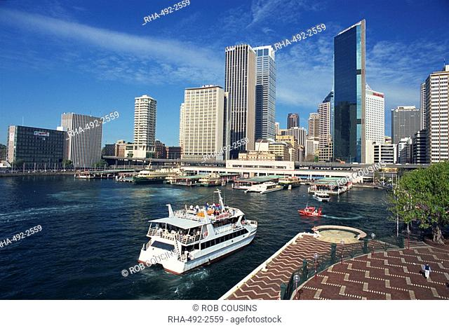 The harbour and city skyline of Sydney, New South Wales, Australia, Pacific