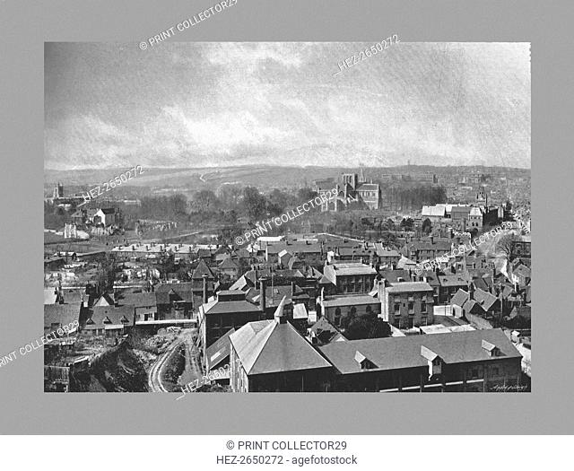 Winchester from St.Giles Hill, c1900. Artist: Henry William Salmon