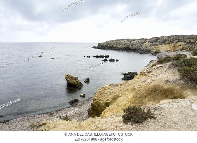 Seascape in Tabarca, is an islet located in the Mediterranean Sea, close to the town of Santa Pola, in the province of Alicante, Valencian community, Spain