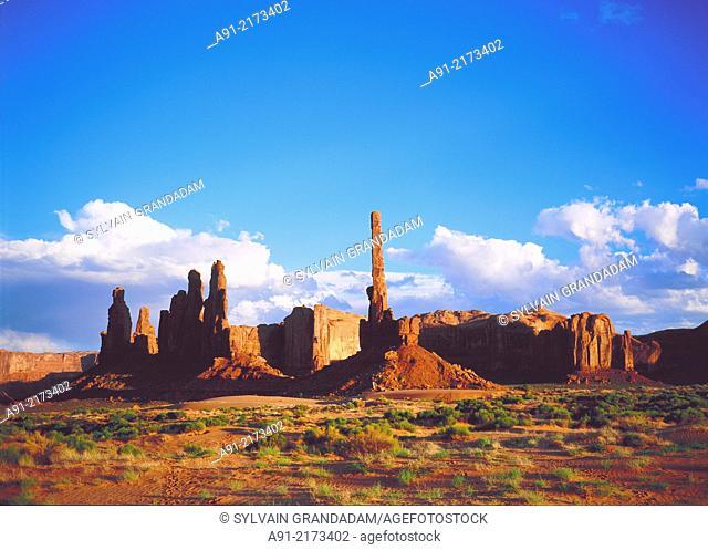 Usa,Utah,Monument valley,totem pole
