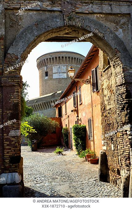 Castello and Borgo Ostia antica Rome Italy