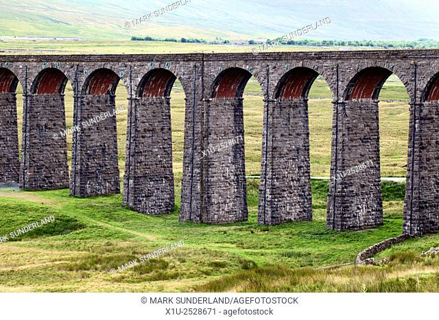 Arches of the Ribblehead Viaduct Striding across a Valley in the Yorkshire Dales England