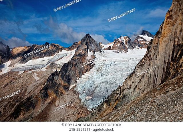 Glaciers and peaks in Bugaboo Provincial Park, British Columbia, Canada