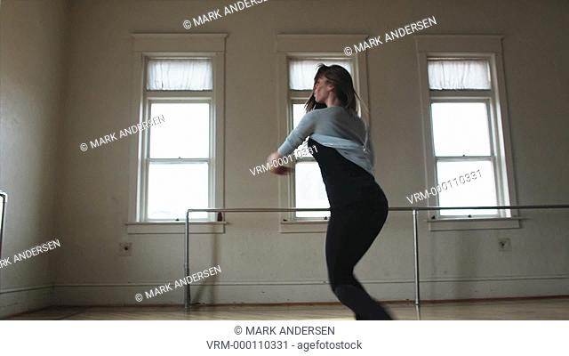 dancer in a dance studio