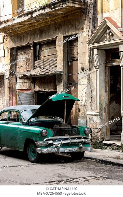 Cuba, Havana, Centro district, decay