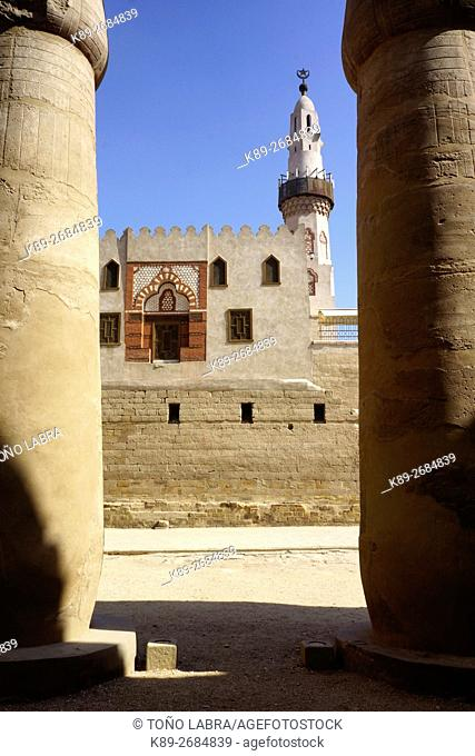 Mosque at Luxor Temple. Luxor. Upper Egypt