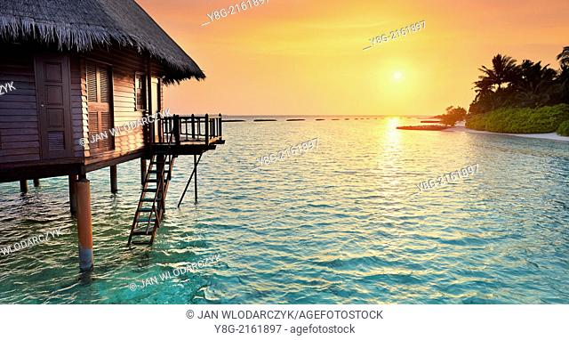 Sunset at Maldives, Ari Atol, Indian Ocean