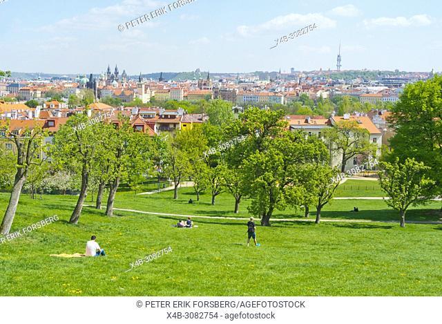 Petrinske sady, Petrin hill park, Prague, Czech Republic