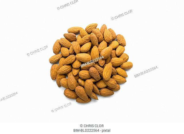 Pile of nuts in shape of a circle