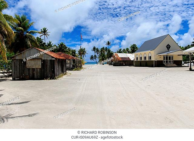 Settlement of Palmerston on Palmerston Atoll, Cook Islands