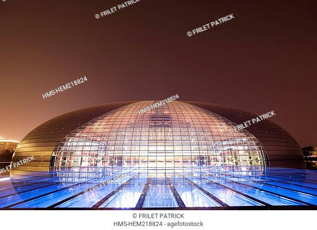 China, Beijing, the Opera designed by French architect Paul Andreu took nine years to be built and opened early 2008