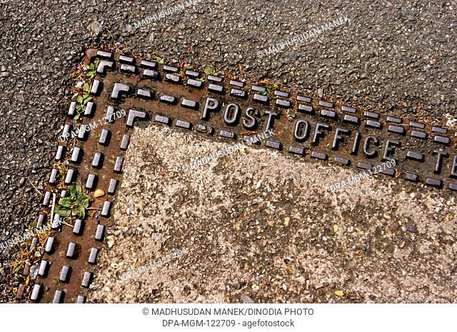 Post Office ; Manhole ; London ; U.K. United Kingdom England