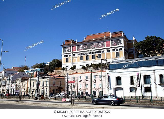 Museu Nacionale De Arte Antiga with Av. 24 de Julho in Foreground - Lisbon - Portugal