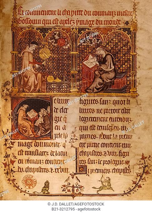 ASTRONOME ET SCRIBE, 1315. France-Ocitanie-Lot- Musée de l'Ecriture at Figeac