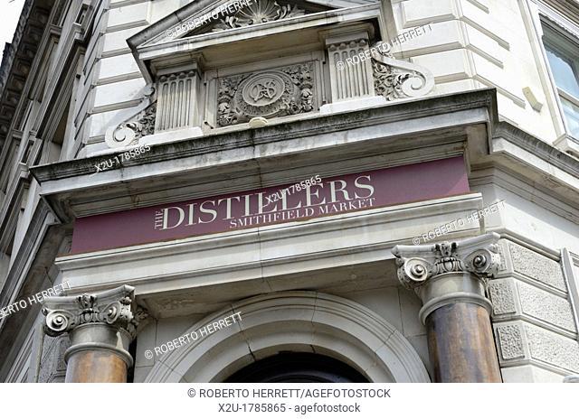 The Distillers pub in Smithfield, London, England