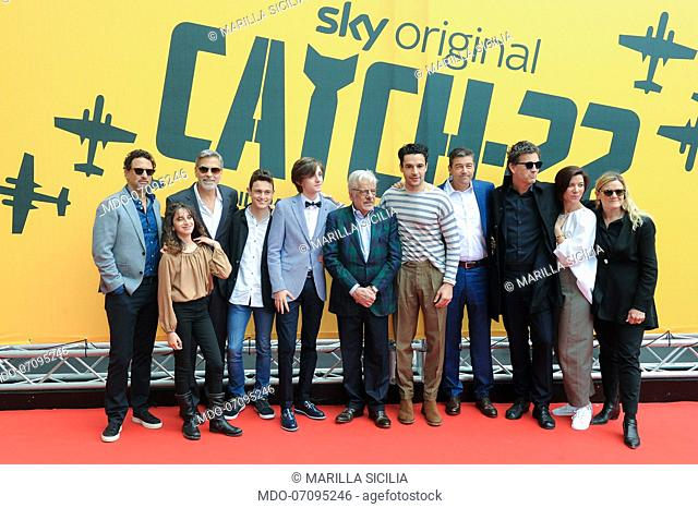 The cast attends the Sky TV series Catch-22 photocall. Rome (Italy), May 13th, 2019