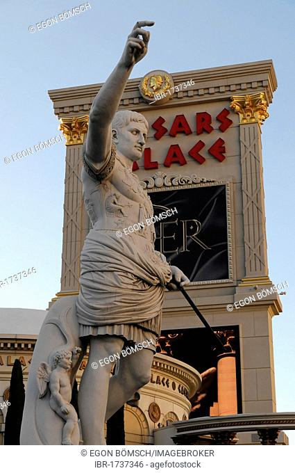 Partial view, Caesars Palace, casino, hotel, Las Vegas, Nevada, USA, North America