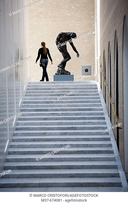 NY Carslberg Glypotek museum. New Section. A. Rodin. The Shade. Copenhagen. Denmark.v