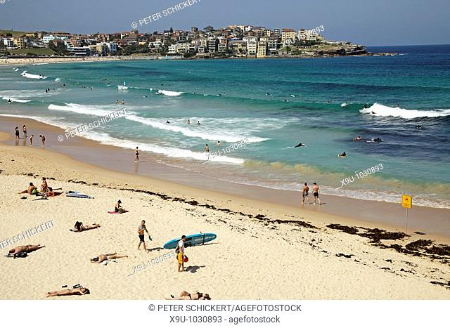 famous Bondi Beach in Bondi, Sydney, New South Wales, Australia