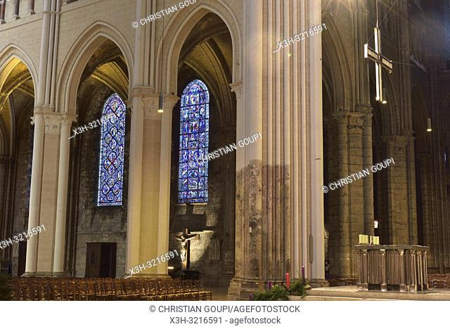 Cathedrale Notre-Dame de Chartres,Eure et Loir,region Centre,France,Europe/Cathedral of Our Lady of Chartres,Eure et Loir department,region Centre,France,Europe