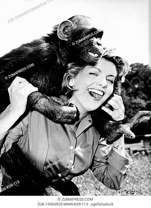 Sept. 20, 1956 - Kenya, Africa - German film star ERICA BEER in Africa to make the film, ' Flucht in die Tropenacht'. (Credit Image: © Keystone Press...