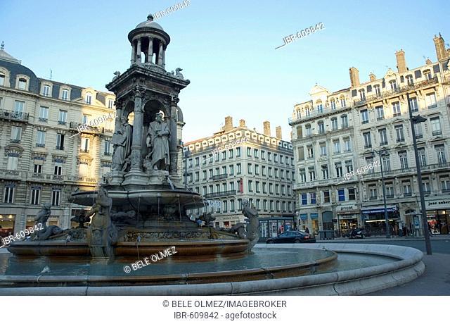 Jacobins fountain, Jacobins square, Lyon, France