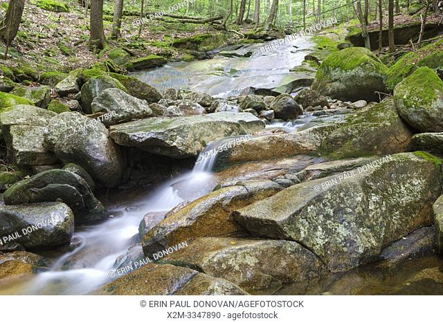 Cascade on Pollard Brook in Lincoln, New Hampshire during the summer months