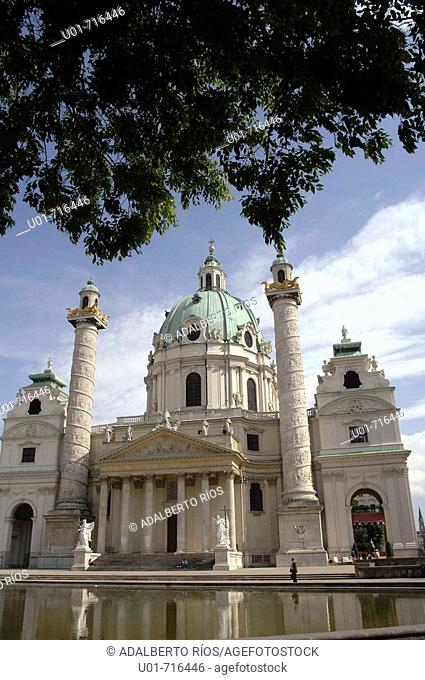 Karlskirche Church (18th century). Vienna. Austria