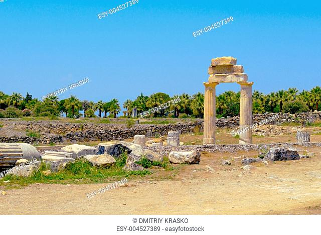 Ancient columns and arch