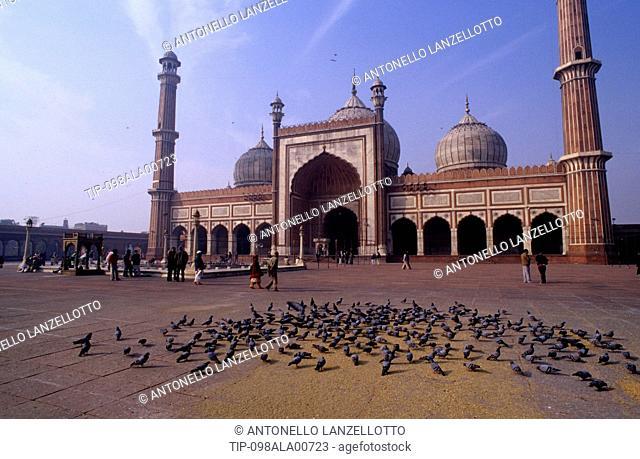 India, New Delhi, Jama Masjid Mosque, Moghul Shah Jahan