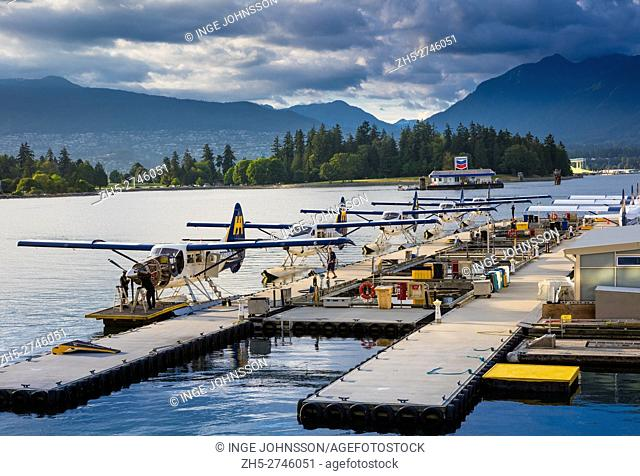 Seaplanes in Vancouver harbor. A seaplane is a powered fixed-wing aircraft capable of taking off and landing (alighting) on water