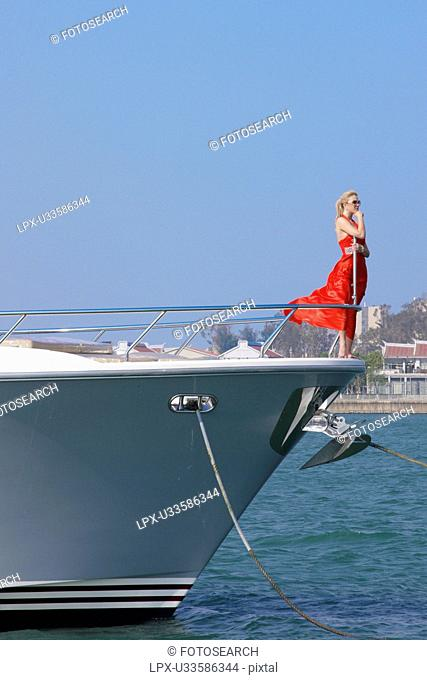 Woman on a yacht