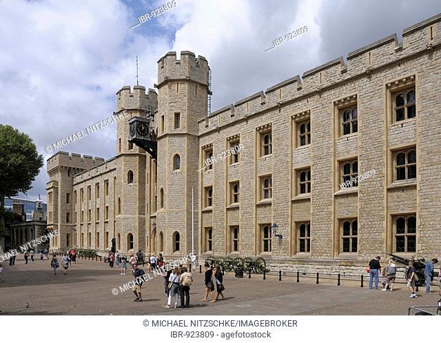 Waterloo Barracks, Jewel House, Tower of London, London, England, Great Britain, Europe