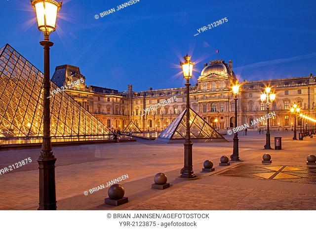 Courtyard of Musee du Louvre, Paris, France