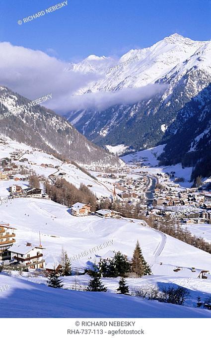 Valley above town of Solden in the Austrian Alps,Tirol Tyrol, Austria, Europe
