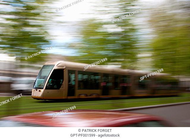 NEW TRAMWAY IN THE CITY OF ORLEANS, LOIRET 45, FRANCE