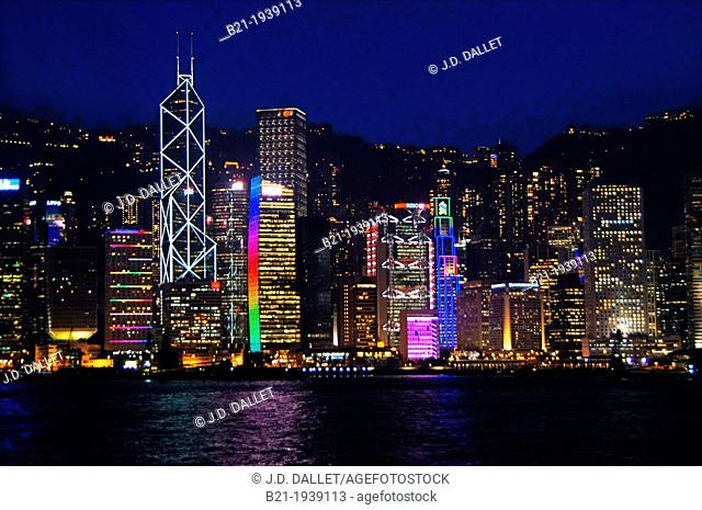 Hong Kong- Central Hong Kong viewed from Kowloon