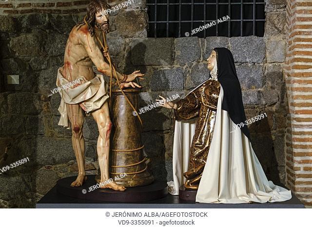 Sculpture. Santa Teresa de Jesus museum. UNESCO World Heritage Site. Avila city. Castilla León, Spain Europe