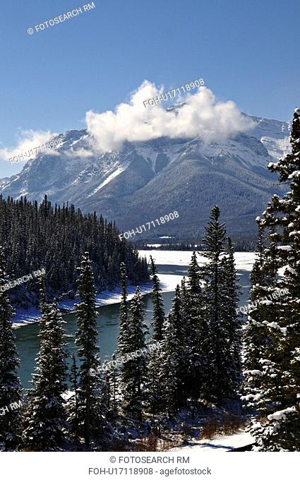 nature winter vertical rocky mountain athabasca