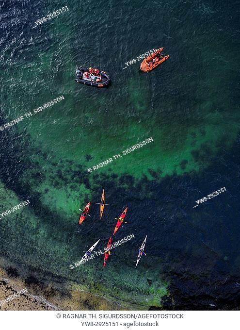 Rafts and Kayaks, Sea Swimming competition, Reykjavik, Iceland