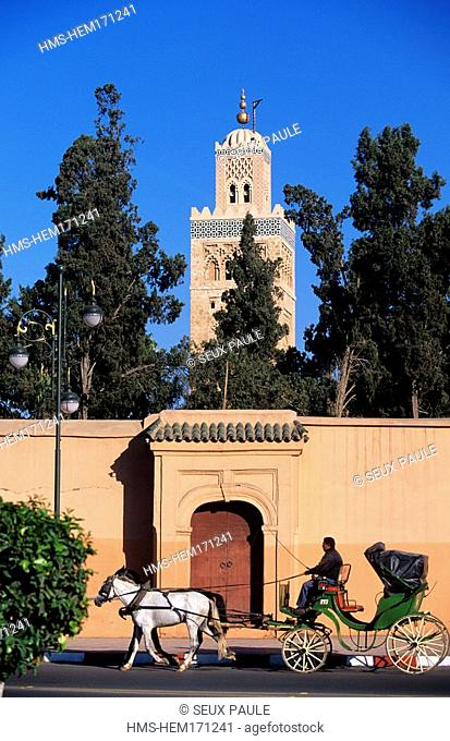 Morocco, Marrakesh, Koutoubia Mosque