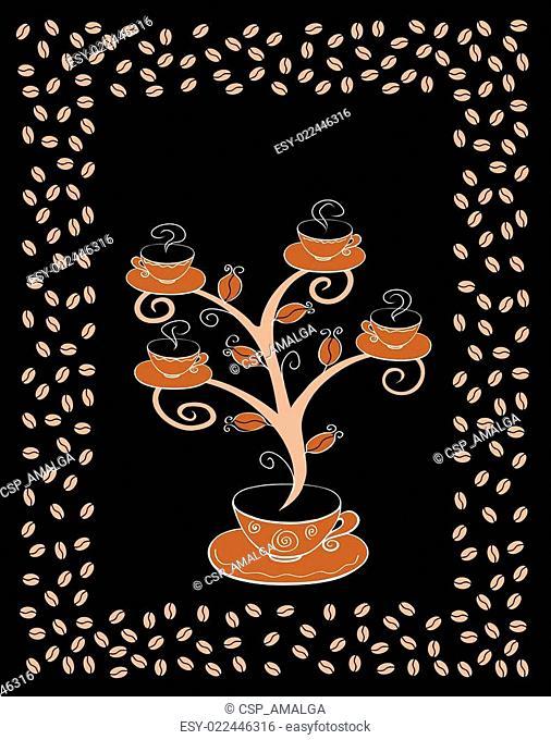 Coffee cups tree 4
