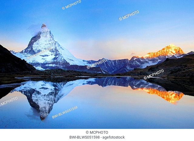 Matterhorn in morning light, Switzerland, Zermatt